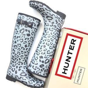 NWB HUNTER Original Refined Leopard Tall Boots 8